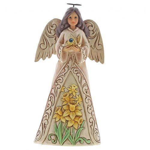 Anioł Marzec patron urodzonych w Marcu March Angel 6001564 Jim Shore, pamiątka narodzin, chrztu
