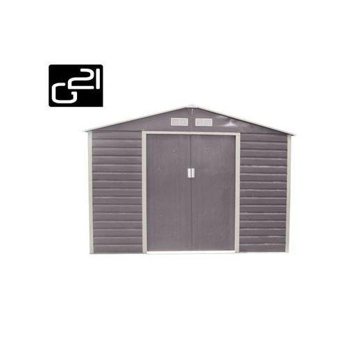 Domek ogrodowy G21 GAH 706 - 277 x 255 cm, szary