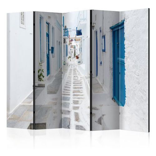 Parawan 5-częściowy - Grecka wyspa marzeń II [Room Dividers]