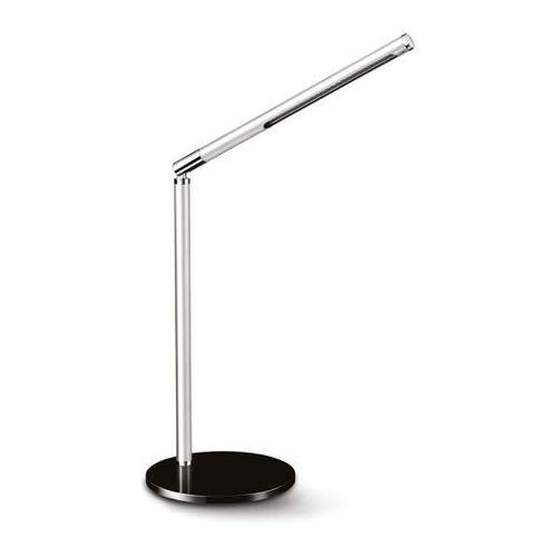 Lampka na biurko CEP CLED-100, 3W, ze ściemniaczem, srebrno-czarna - sprawdź w Mercateo Polska