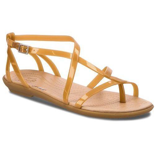 Sandały CROCS - Isabella Gladiator Sandal W 204914 Dark Gold/Gold
