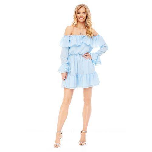 Sukienka calla w kolorze błękitnym, Sugarfree