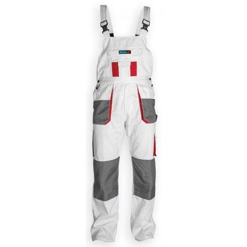 Spodnie robocze bh4so-l ogrodniczki biały (rozmiar l/52) marki Dedra