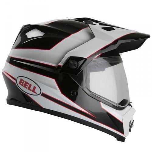 BELL MX-9 ADVENTURE STRYKER BLACK/WHITE Kask motocrosowy