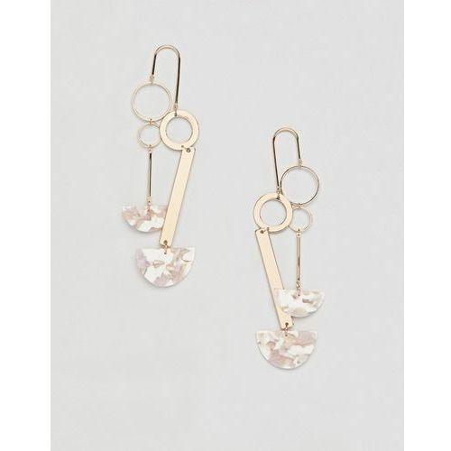 earrings in mobile design with resin in gold - gold marki Asos design