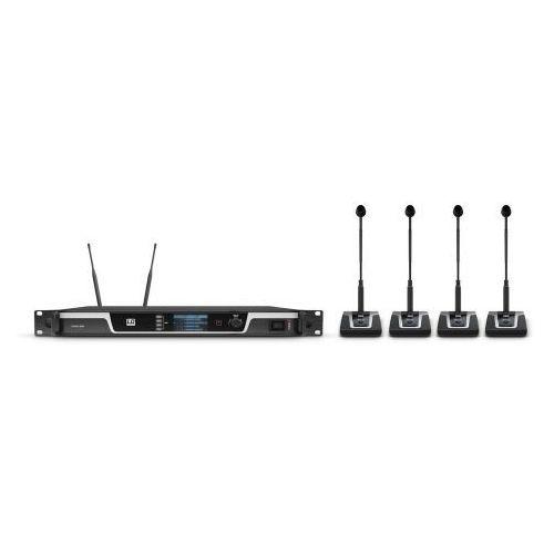 LD Systems U508 CS 4 bezprzewodowy system konferencyjny z 4 mikrofonami biurkowymi