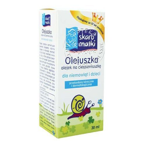 SKARB MATKI ZESTAW olejek na ciemieniuszkę 30 ml + szampon 200 ml + CZAPECZKA GRATIS - produkt z kategorii- kremy i maści dla dzieci