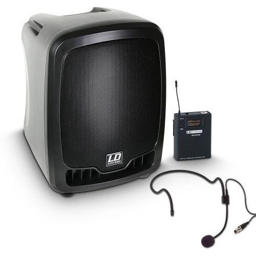 roadboy 65 hs przenośna kolumna aktywna na baterie z bezprzewodowym mikrofonem nagłownym marki Ld systems
