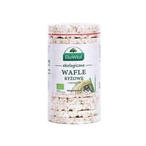 Wafle ryżowe z sezamem bezglutenowe bio marki Ekowital