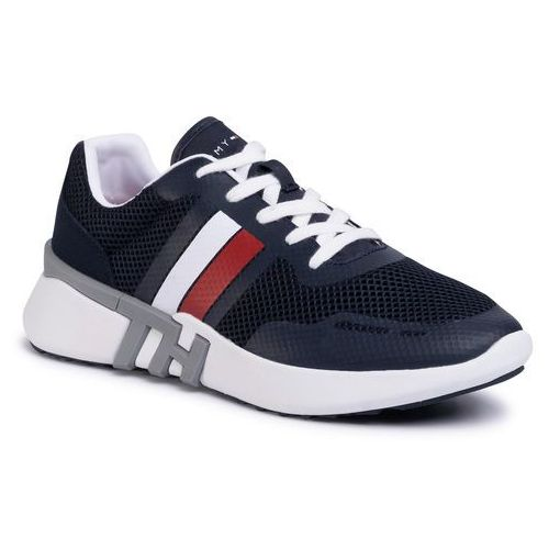 Tommy hilfiger Sneakersy - lightweight corporate th runner fm0fm02661 desert sky dw5