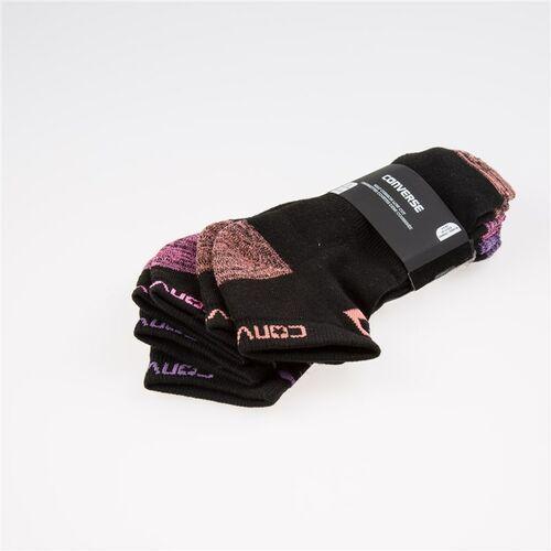 Converse Skarpetki - star chevron low cut black sunblushblk pink po black br violet (3001) rozmiar: