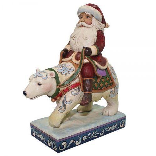 Mikołaj z białym niedzwiedziem bear with me (santa riding polar bear) 4058784 figurka ozdoba świąteczna marki Jim shore