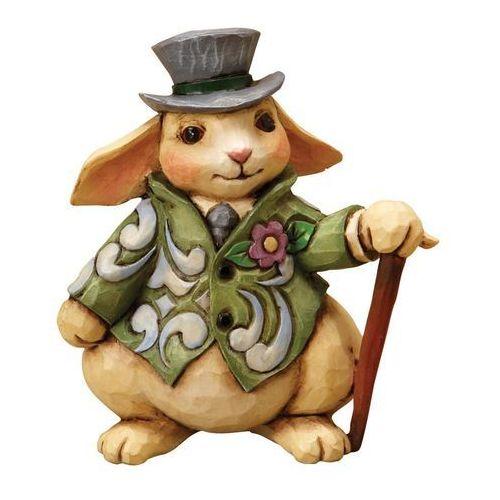 Królik w kapeluszu Mini Rabbit 4021448 JimShore figurka ozdoba świąteczna