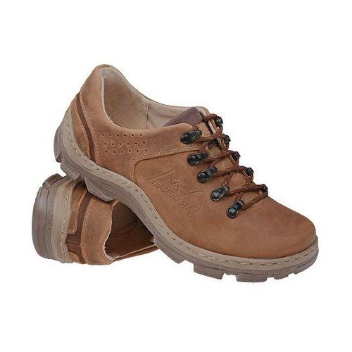 Półbuty buty trekkingowe 1392 koniakowe - brązowy ||koniakowy marki Kornecki