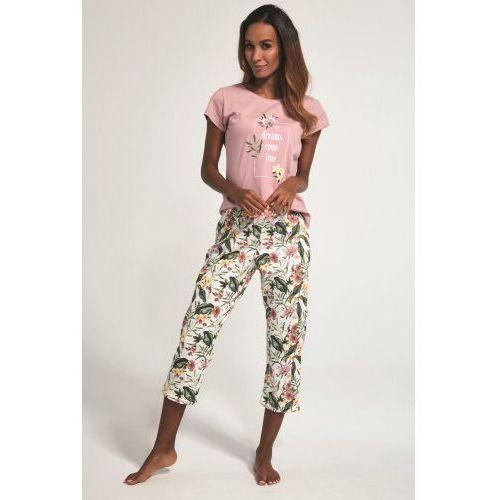 Bawełnian piżama damska Cornette 3 częściowa 665/172 Come True różowa, 665/172 Come True