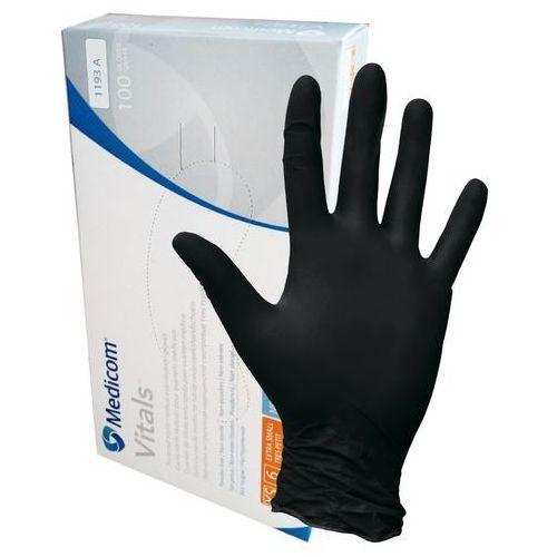Rękawiczki medicom nitrylowe xs czarne b/pdr standard 100szt/opak. safetouch advanced black marki Medicom sp. z o.o.