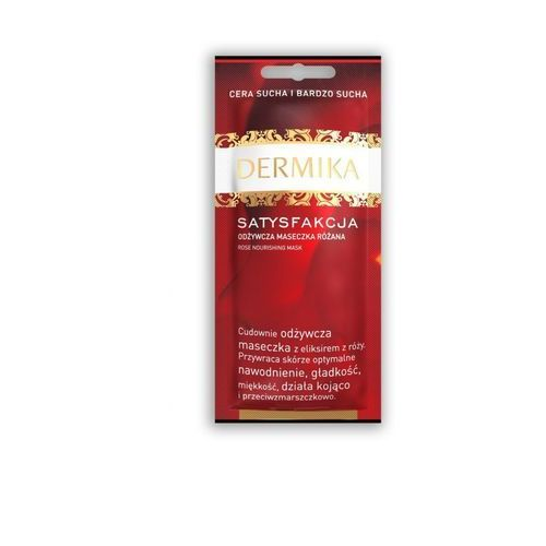 satisfaction maseczka odżywcza do skóry suchej i bardzo suchej (rose) 10 ml marki Dermika