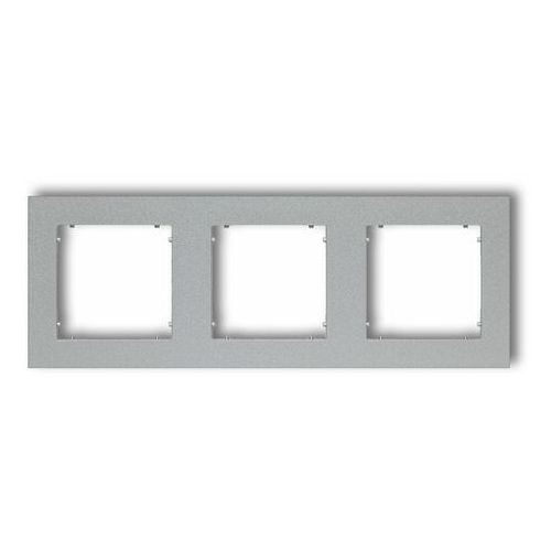 Ramka potrójna Karlik Mini 7MR-3 srebrny metalik, kolor srebrny