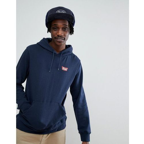 stith hoodie with small logo in navy - navy marki Brixton