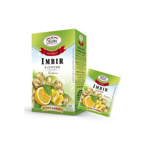 Malwa tea Malwa sunny garden herbata imbir z cytryną 20tb