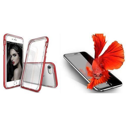 Zestaw | Rearth Ringke Frame Blaze Red | Obudowa + Szkło ochronne Perfect Glass dla modelu Apple iPhone 7