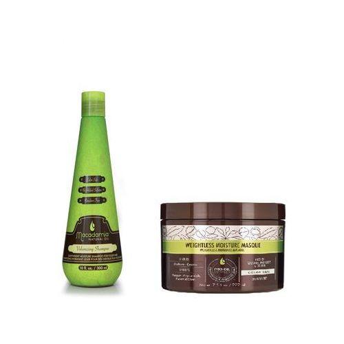 Macadamia zestaw objętość i odżywienie | volumizing shampoo 300ml, weightless moisture mask 222ml (9753197531797)