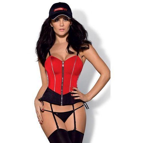 Kostium Obsessive Rally corset w kolorze czerwonym - produkt z kategorii- garsonki i kostiumy