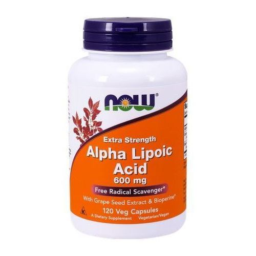 Kapsułki ALA (Kwas Alfa Liponowy) Plus Grape Seed Ext & Bioperine 120 kaps.