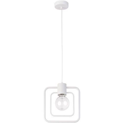 LAMPA wisząca FREDO KWADRAT 31504 Sigma kwadratowa OPRAWA metalowa ramka ZWIS loft biały (5902846812746)