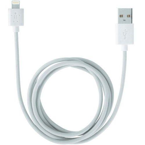 Kabel USB 2.0, Belkin F8J023bt3M-WHT, do iPoda, iPhone'a, iPada, 3 m, złącze Lightning (5/5S/5C) (kabel i adapter do odtwarzacza)