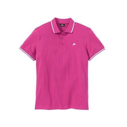 Bonprix Shirt polo regular fit różowy