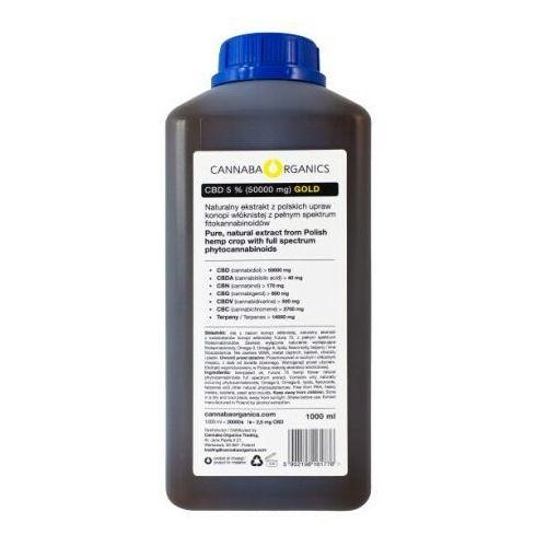 Cannaba organics Destylowany olej pełne spektrum 5% cbd (50000 mg/1000 ml) (5902198161776)