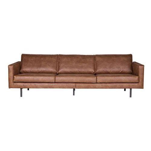 Be Pure Sofa FR rodeo 3-osobowa koniakowa 378645-B, kolor brązowy