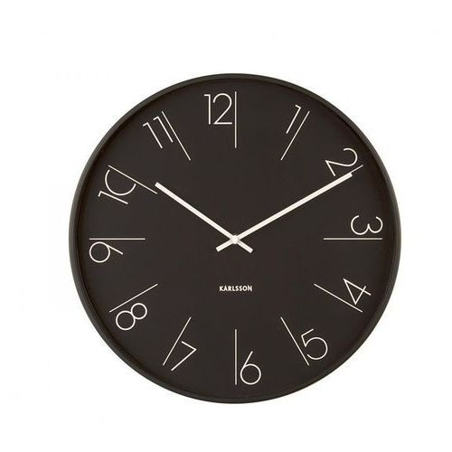 Karlsson :: Zegar ścienny Elegant Numbers czarny