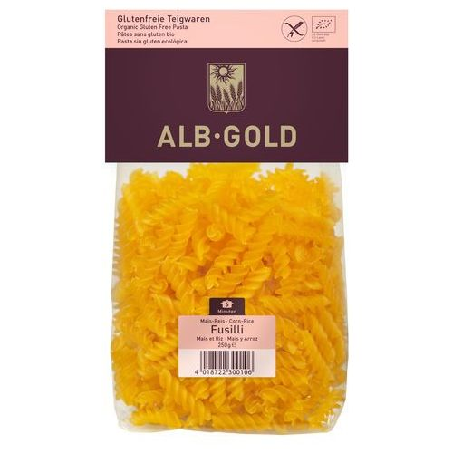 Alb gold Makaron kukurydziano-ryżowy fussili bio 250 -