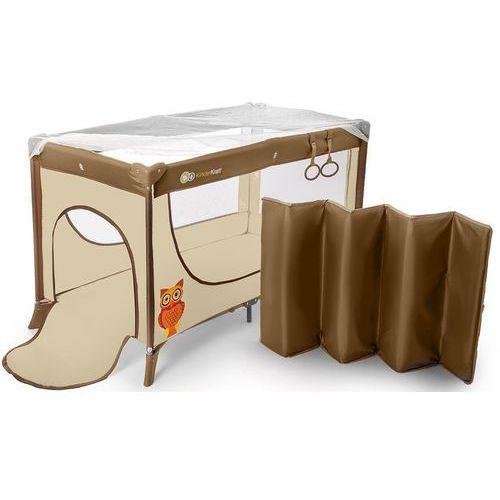 Łóżeczko turystyczne KINDERKRAFT Joy z uchwytami do nauki wstawania Beżowy + DARMOWY TRANSPORT! - produkt z kategorii- łóżeczka turystyczne