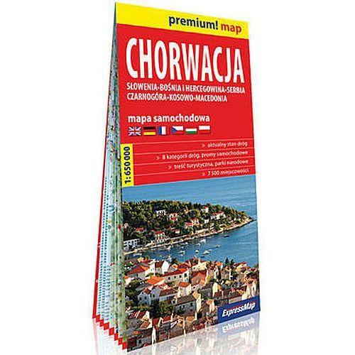 Chorwacja Słowenia, Bośnia i Hercegowina, Serbia, Czarnogóra, Kosowo, Macedonia mapa samochodowa 1:650 000 (9788380466708)