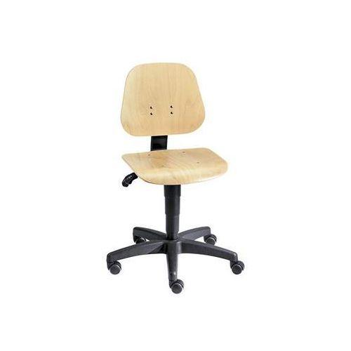 Obrotowe krzesło do pracy z regulacją wysokości sprężyną gazową, sklejka bukowa,
