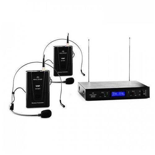 VHF-400 Duo 2 2-kanałowy zestaw mikrofonów bezprzewodowych VHF 1x odbiornik + 2x zestaw nagłowny