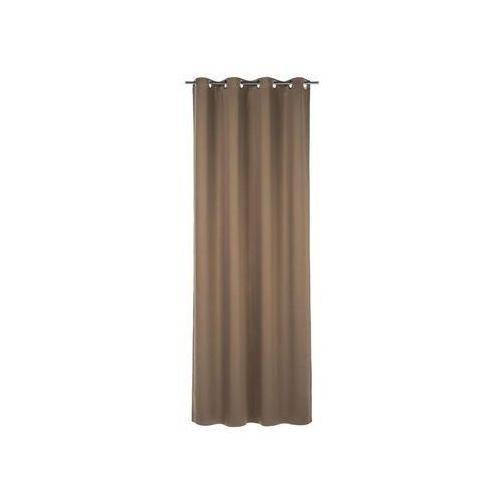 Zasłona gotowa zaciemniająca kolor brązowy 140 x 260 cm kółka 265 g/m² marki Inspire