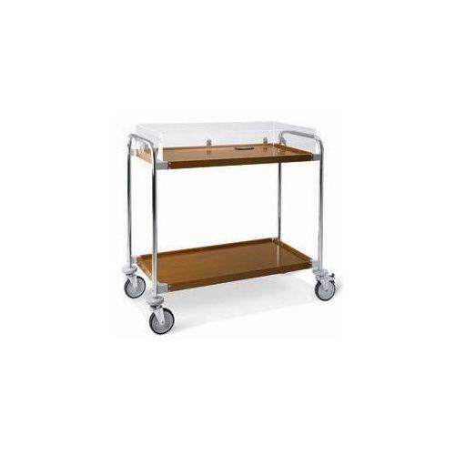 Wózek kelnerski 2-półkowy z pokrywą | 1090x520x(H)1050mm