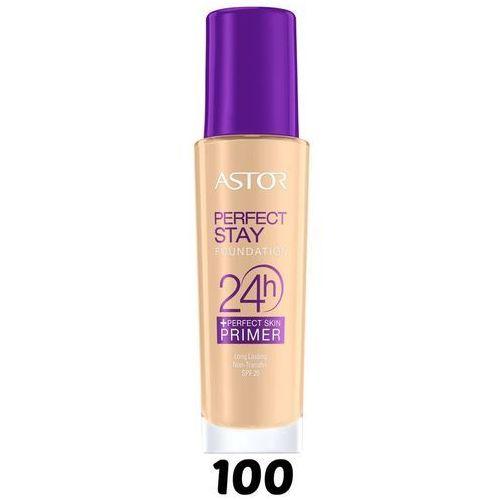 Perfect Stay 24H Foundation + Perfect Skin Primer SPF20 podkład do twarzy i baza 100 Ivory 30ml - Astor. DARMOWA DOSTAWA DO KIOSKU RUCHU OD 24,99ZŁ