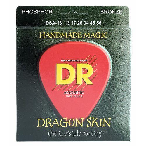 Dr dragon skin - struny do gitary akustycznej, coated phosphor bronze, medium heavy,.013-.056