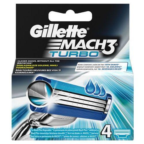 Gillette Mach3 Turbo Ostrza wymienne do maszynki do golenia, 4 sztuki (3014260274917)