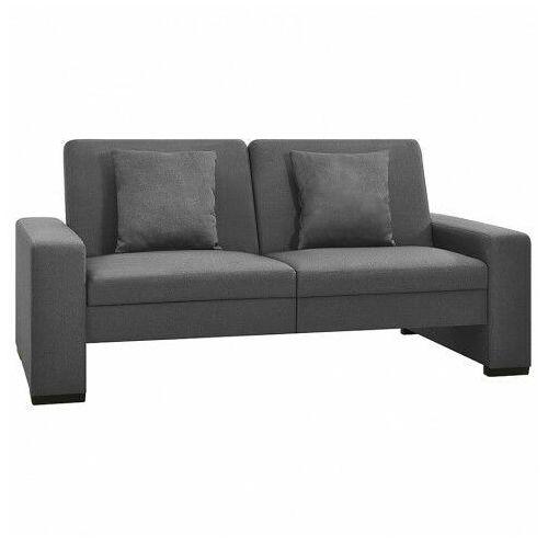 Dwuosobowa jasnoszara rozkładana sofa z tkaniny - Arroseta 2S, kolor szary