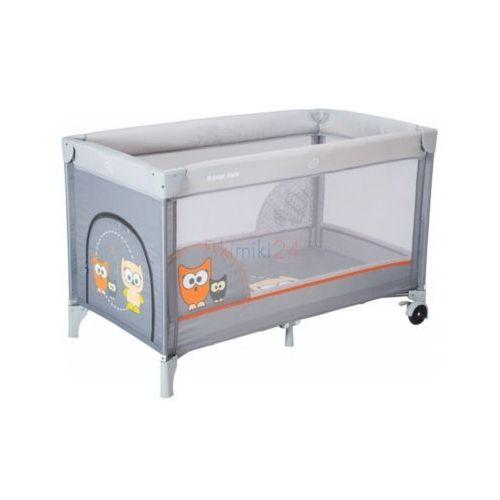 ALEXIS HR-8052-172 łóżeczko turystyczne jednopoziomowe SOWA szara