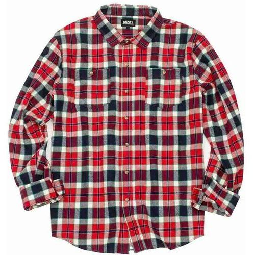 Grizzly Koszula - outfield ls woven red (red) rozmiar: xl