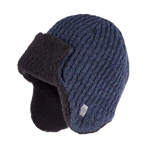 Pamami Zimowa czapka, uszatka męska - granatowa mulina