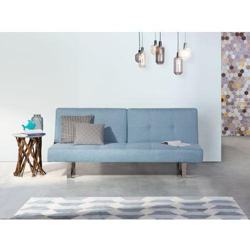 Sofa z funkcją spania niebieska - kanapa rozkładana - wersalka - DUBLIN