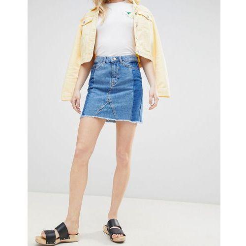 New Look Deconstructed Denim Mini Skirt - Blue, kolor niebieski